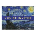 Het sterrige Schilderen van Vincent van Gogh van 12,7x17,8 Uitnodiging Kaart