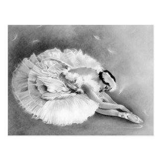 Het Sterven van de ballerina het Briefkaart van de
