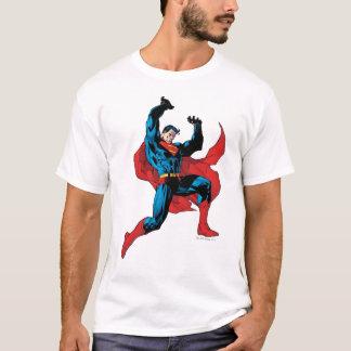 Het steunen van een zwaar voorwerp t shirt