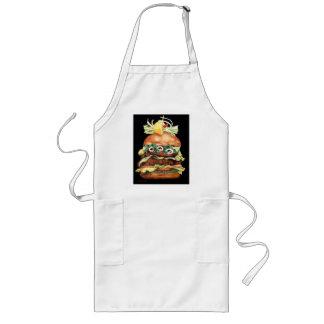 Het Stilleven van de hamburger door Laurie Mitchel Lang Schort