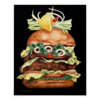 Het Stilleven van de hamburger door Laurie Poster
