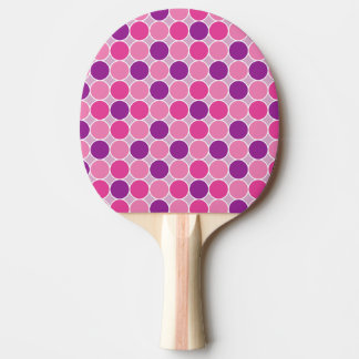 Het stip van de kleur in paars en lila tafeltennis bat