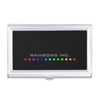 Het Stip van de regenboog op Zwarte Visitekaartjes Mapje
