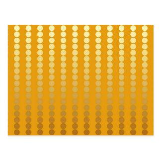 Het stip van het satijn - goud en mosterd briefkaart