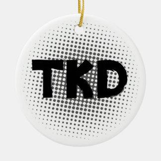 Het Stip van vechtsporten TKD Rond Keramisch Ornament