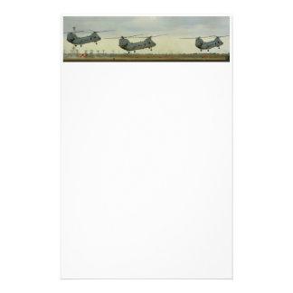 Het Stootkussen van de helikopter Briefpapier