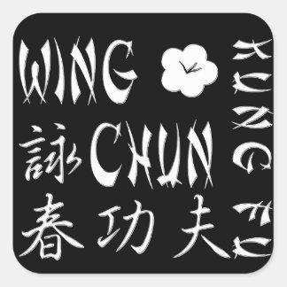 Het Stootkussen van de Muis van de Kungfu van Chun Vierkante Sticker