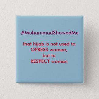 Het Storm Muhammmad van Hashtag van de tjilpen Vierkante Button 5,1 Cm