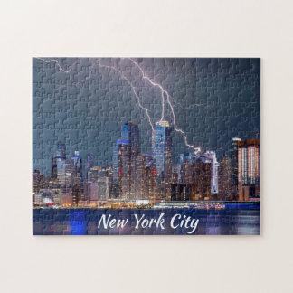 Het Storm van de Bliksem van de Stad van New York Puzzel