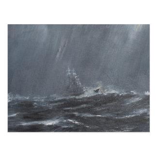 Het Storm van Gneisenau in het Noord-Zee 1940. Briefkaart