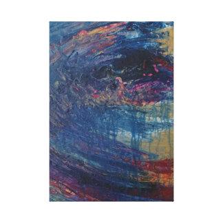 Het Storm van het zee Canvas Print
