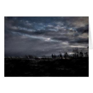 Het stormachtige Lege Wenskaart van de Nacht