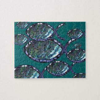 Het stralende Christelijke Symbool van Vissen Puzzel