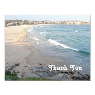 Het strand dankt u kaardt 10,8x13,9 uitnodiging kaart