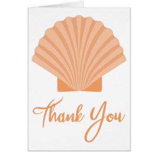 Het strand dankt u Oranje Zeeschelp Zeevaart Briefkaarten 0