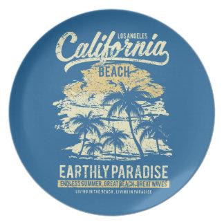 Het Strand die van Californië in de Eindeloze Bord