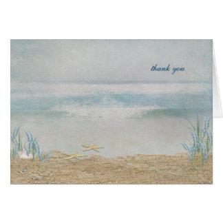 het strand huwelijk dankt u kaart