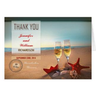 het strand huwelijk dankt u kaarten