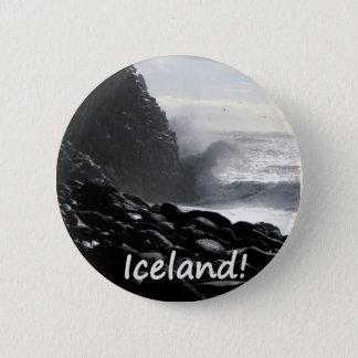 Het Strand IJsland van Reynisfjara Ronde Button 5,7 Cm
