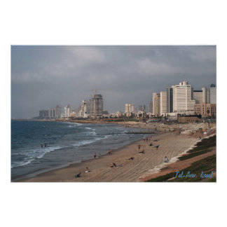Het strand in Tel Aviv Poster