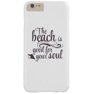 Het strand is goed voor uw ziel barely there iPhone 6 plus hoesje