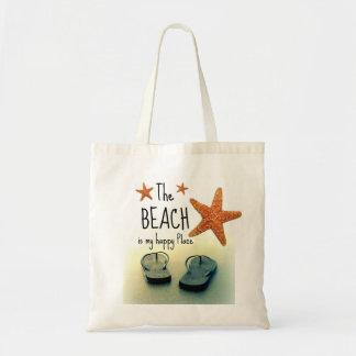 Het strand is mijn Gelukkige Zak van het Draagtas