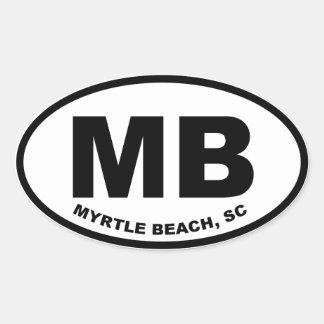 Het Strand MB van de mirte Ovale Sticker