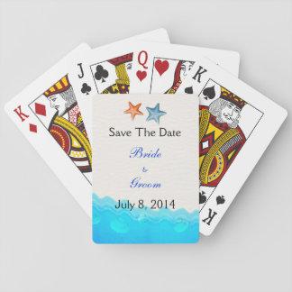 Het strand met Zeester bewaart de Datum Pokerkaarten