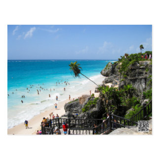 Het Strand Mexico van Tulum Briefkaart