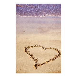 Het Strand Oceaan Romantisch Valentijn van het Briefpapier