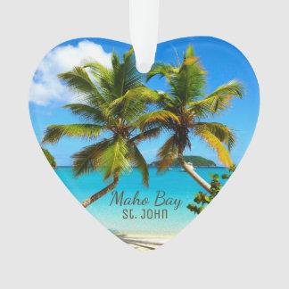 Het Strand St. John Acrylic Ornaments van de Baai Ornament