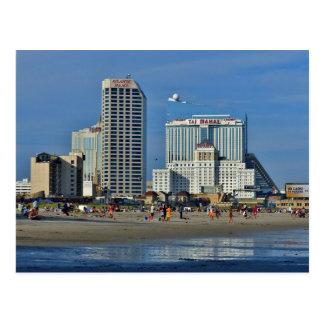 Het Strand van Atlantic City met Casino Briefkaart
