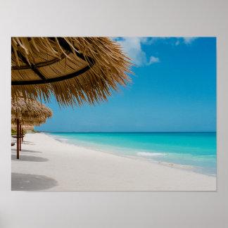 Het Strand van Barbuda Poster