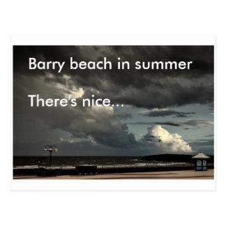 Het strand van Barry in de zomer Briefkaart