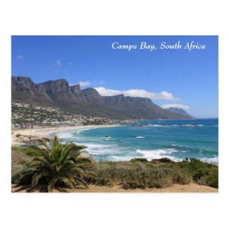 Het Strand van de Baai van kampen, Zuid-Afrika Briefkaart