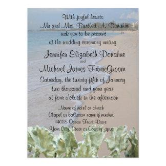 Het Strand van de Ceremonie van het huwelijk met 16,5x22,2 Uitnodiging Kaart