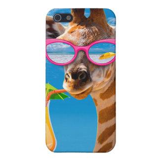 Het strand van de giraf - grappige giraf iPhone 5 cases