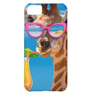 Het strand van de giraf - grappige giraf iPhone 5C hoesje