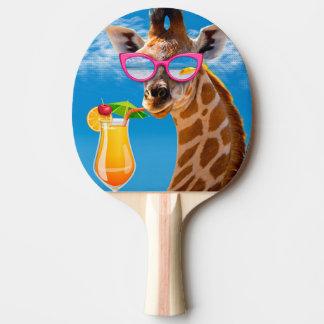 Het strand van de giraf - grappige giraf tafeltennis bat