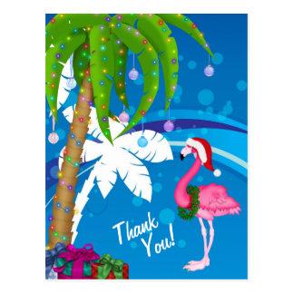 Het Strand van de Vakantie van de Flamingo van de Briefkaart