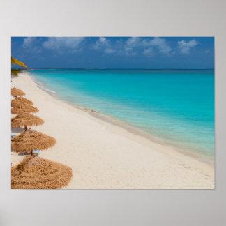 Het Strand van de vuurtoren, Barbuda Poster