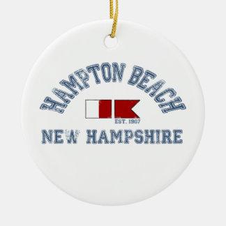 Het Strand van Hampton - ZeevaartOntwerp Rond Keramisch Ornament