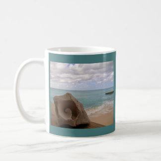 Het Strand van het Paradijs van Shell van de Koffiemok
