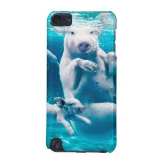 Het strand van het varken - zwemmende varkens - iPod touch 5G hoesje