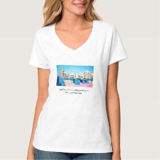 Het STRAND van het ZUIDEN, de T-shirt van MIAMI,