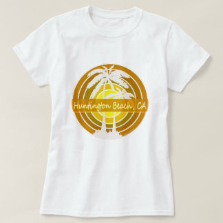 Het Strand van Huntington, CA met Palmen T Shirt