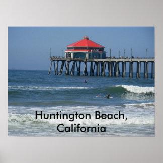 Het Strand van Huntington, Californië Poster