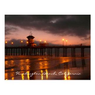 Het Strand van Huntington, het Briefkaart van