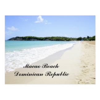 Het Strand van Macao in de Dominicaanse Republiek Briefkaart