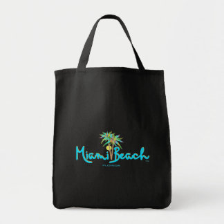 Het Strand van Miami, de Zwarte van de Palmen van Draagtas